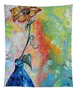 One Solitary Flower Tapestry