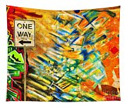 One Way Street Tapestry