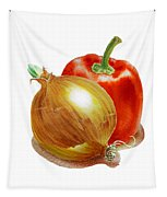Onion And Red Pepper Tapestry