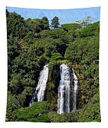 Opaekaa Falls In Kauai Tapestry