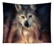 Wolf Art Animal Portrait  Tapestry