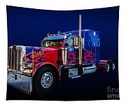 Optimus Prime Blue Tapestry