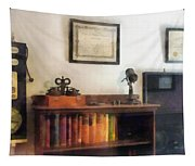 Optometrist - Eye Doctor's Office With Diploma Tapestry