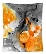 Orange Abstract Art - Iced Tangerine - By Sharon Cummings Tapestry