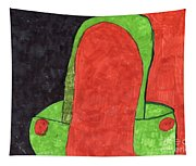 Orange And Green Tapestry