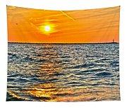 Orange Burn Tapestry