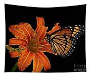 Orange Butterfly Tapestry