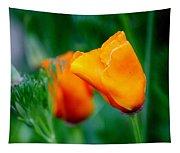 Orange California Poppies Tapestry