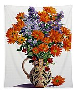 Orange Chrysanthemums Tapestry