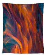 Orange Fire Tapestry