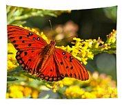 Orange Gulf Fritillary Tapestry