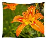 Orange Lily Tapestry