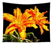 Orange Lily Twins Tapestry