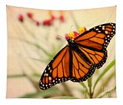 Orange Mariposa Tapestry