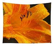 Orange Rain Tapestry