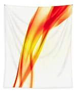 Orange Smoke Abstract On A White Background Tapestry