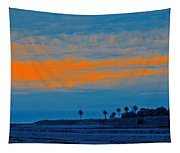 Orange Sunset Tapestry