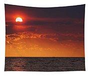 Orange Sunset Over Oyster Bay Tapestry