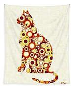 Orange Tabby - Animal Art Tapestry