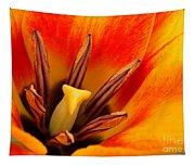 Orange Tulip Tapestry