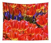 Orange Tulips Tapestry