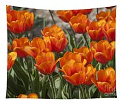 Orange Tulips  Tapestry