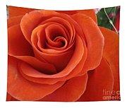 Orange Twist Rose 2 Tapestry