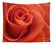Orange Twist Rose 3 Tapestry