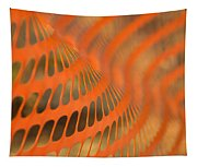 Orange Wave Tapestry