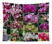 Orchid Collage 1 Tapestry
