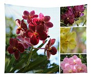 Orchid Collage Tapestry