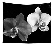 Orchid In Black And White Tapestry