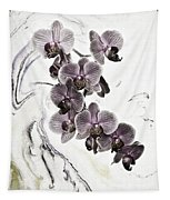 Orchids And Suminagashi Tapestry