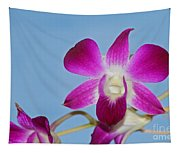 Orchids With Blue Sky Tapestry