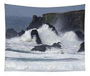 Oregon Coast Furrious Waves 1 Tapestry