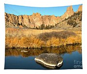 Oregon River Rock Reflections Tapestry