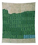 Oregon Word Art State Map On Canvas Tapestry by Design Turnpike