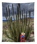 Organ Pipe Cactus The Visitor 1 Tapestry