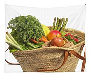 Organic Fruit And Vegetables In Shopping Bag Tapestry