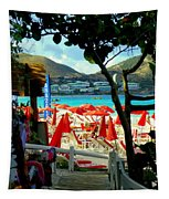 Orient Beach Peek Tapestry