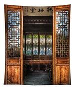 Orient - Door - The Temple Doors Tapestry