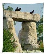 Ornamental Crows Tapestry