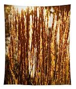 Ornamental Golden Grass Tapestry
