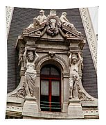 Ornate Window Of City Hall Philadelphia Tapestry