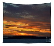 Oslo Fjord At Sunset Tapestry