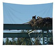 Osprey Nest With Mom And Chicks Tapestry