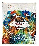 Otter Art - Ottertude - By Sharon Cummings Tapestry