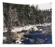 Ouareau River And Snow Covered Tapestry