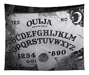 Ouija Board Queen Mary Ocean Liner Bw Tapestry