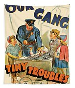 Our Gang Vintage Movie Poster 1930s Tapestry